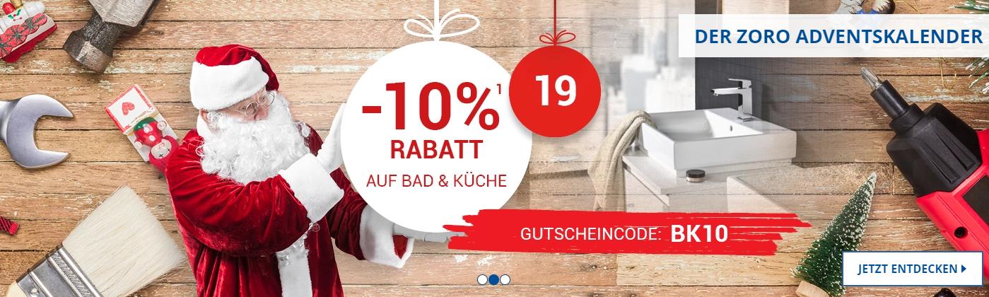 10% Rabatt auf Bad- und Küchenartikel bei Zoro.de