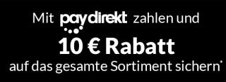 10,- Euro Rabatt ab 50,- Euro Bestellwert durch Zahlung mit Paydirekt bei Alternate