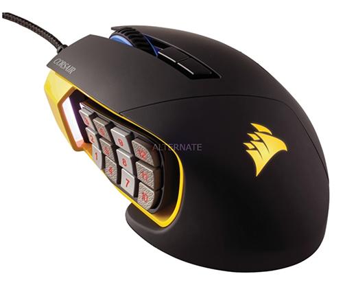 Nur noch wenige verfügbar: Corsair Scimitar Pro RGB Gaming Maus als Outlet Deal für 46,98 Euro (statt 78,- Euro)
