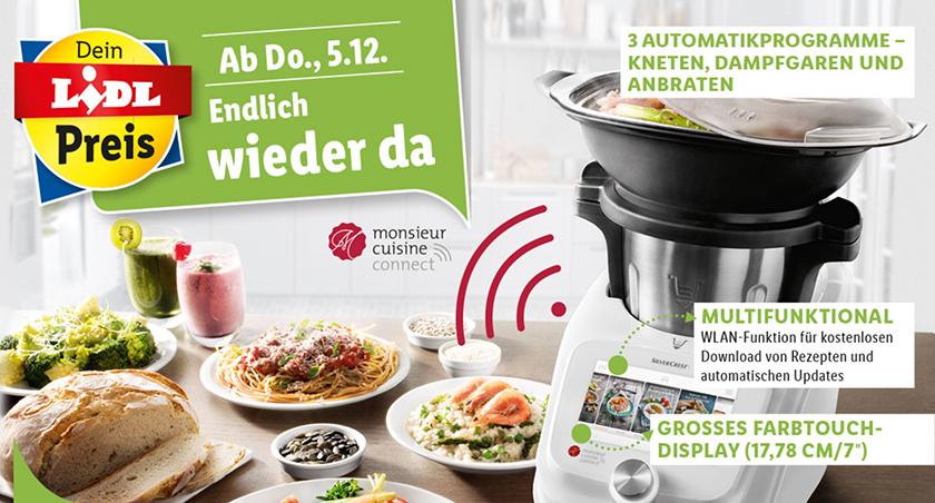 Silvercrest® Küchenmaschine Mit Kochfunktion Monsieur Cuisine Édition Plus Skmk 1200 B2 2021