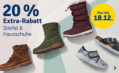 20% Extra Rabatt auf reduzierte Boots, Stiefel und