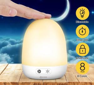 LED Nachtlicht mit Touch-Control, Farbwechsel und bis zu 40 Stunden Akkulaufzeit für nur 10,99 Euro