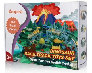 168-teilige Anpro Dino Spielzeug Rennenbahn für 12,99 Euro bei Amazon