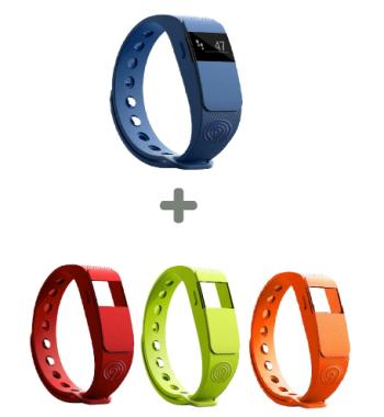 Ninetec Smartfit F2 Fitnesstracker (IOS/ Android) + drei Armbänder für nur 16,99 Euro inkl. Versand
