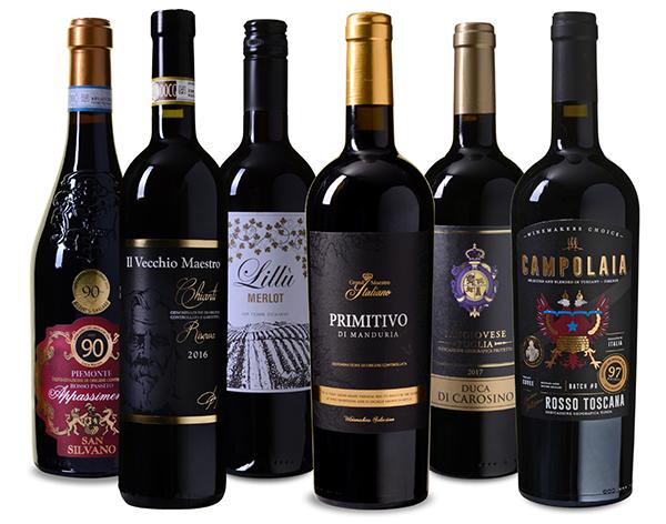 Wein Probierpaket Italia mit 6 verschiedenen Rotweinen für nur 49,99 Euro inkl. Versand