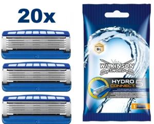 Knaller: 20x Wilkinson Sword Hydro5 Connect Rasierklingen für nur 24,82 Euro inkl. Versand