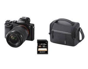 SONY Alpha 7 KB Kit mit 28-70 mm Objektiv + Tasche + 32GB Speicherkarte für nur 699,- Euro