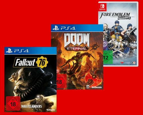 MediaMarkt: 3 Games (PS4, Xbox One, Switch, PC) für nur 47,77 Euro
