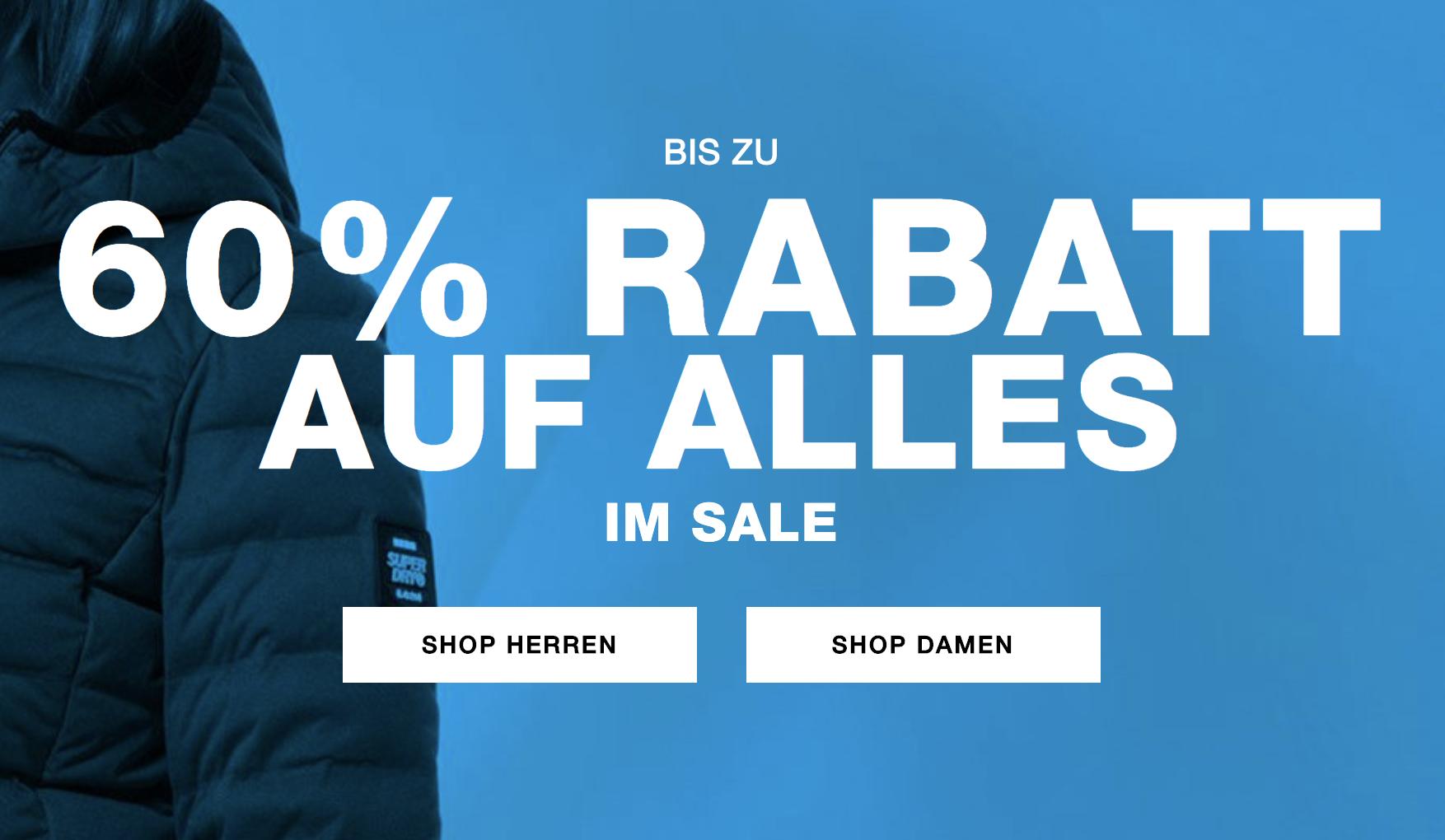 Superdry Sale mit bis zu 60% Rabatt + Versandkostenfreie