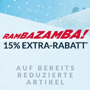 Engelhorn Rambazamba Aktion mit 15% Extra-Rabatt auf Sale-Artikel