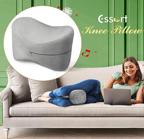 Essort Orthopädisches Knie-Kissen für Seitenschläfer für nur 12,59 Euro bei Amazon