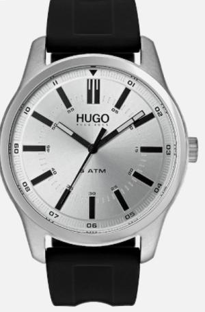 Hugo Uhr in schwarz / silber für nur 71,93 Euro inkl. Versand