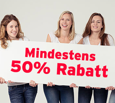 Mindestens 50% Rabatt auf über 500 ausgewählte Produkte bei Jeans-Direct