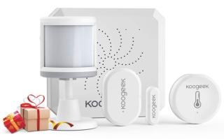 Koogeek ZigBee Smarthome Sicherheitssystem mit Türsensor, Bewegungssensor, Temperatursensort und Feuchtigkeitssensor für 49,99 Euro