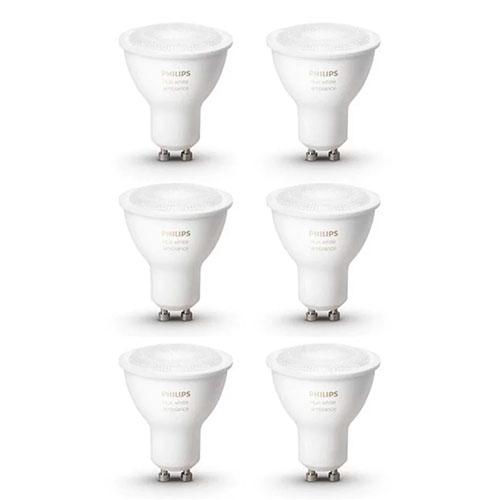 6er-Pack Philips Hue White Ambiance GU10 LED Spot für nur 94,49 Euro inkl. Versand