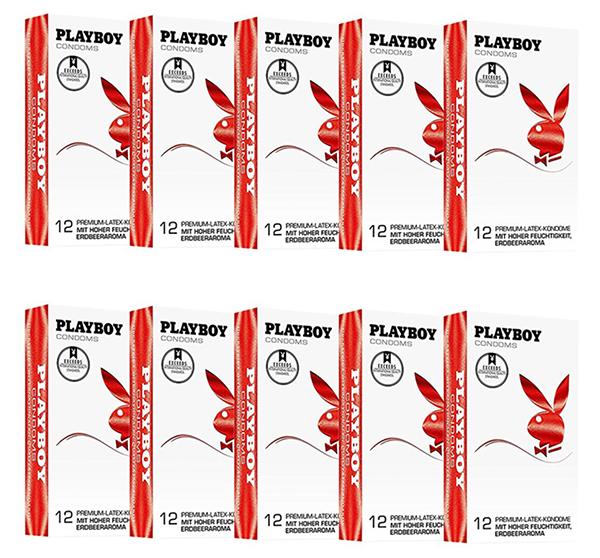 120 (10 x 12 Stück) PLAYBOY Kondome mit Erdbeer-Geschmack für nur 19,99 Euro inkl. Versand