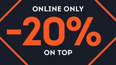 20% Rabatt auf ausgewählte Artikel von verschiedenen