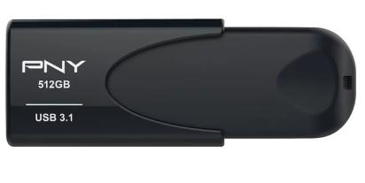 PNY Attaché 4 USB-Stick 512GB USB3.1 schwarz für nur 44,- Euro inkl. Versand