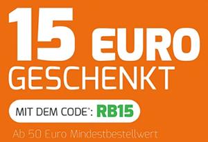 15,- Euro Extra-Rabatt auf alle (auch bereits reduzierten) Weine bei Weinvorteil (MBW: 50,- Euro)