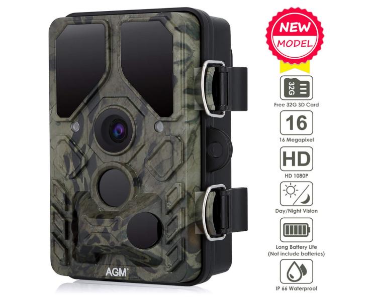 16MP AGM Wildkamera 1080P Full HD mit 20m Nachtsicht nur 34,99 Euro