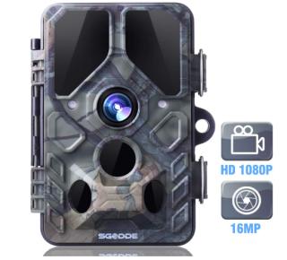 SGODDE Wildkamera mit 16MP, Bewegungsmelder und Infrarot-Nachtsicht für 49,99 Euro