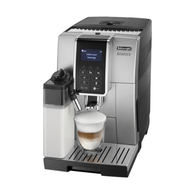 DELONGHI ECAM 352.55.SB Dinamica, Kaffeevollautomat, 1.8 Liter Wassertank, 15 bar, Silber/Schwarz für nur 499,- Euro