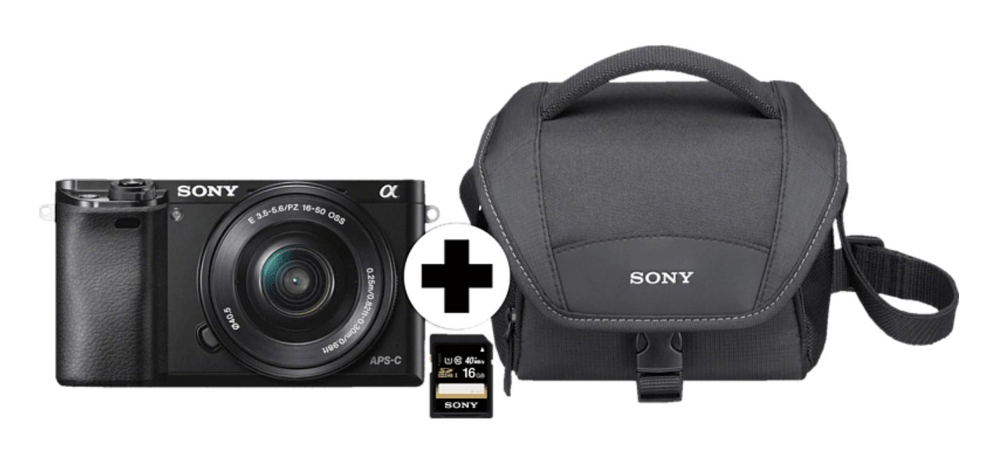 SONY Alpha 6000 Kit Systemkamera +16-50 mmObjektiv + Speicherkarte (16GB) + Tragetasche für nur 437,69 Euro inkl. Versand
