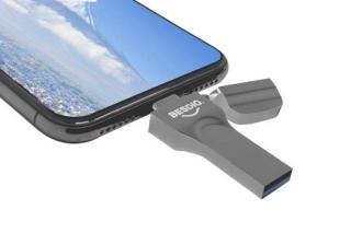 BesDio iPhone USB Stick mit 128GB und Lightning + USB Stecker für 34,99 Euro