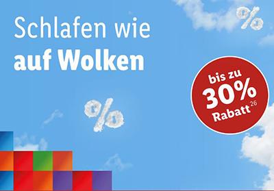 20% bzw. 30% Rabatt auf Matratzen im Lidl Online-Shop