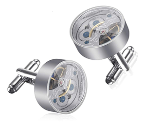 Baban Deluxe Manschettenknöpfe in Uhrwerk Form für nur 4,49 Euro bei Amazon