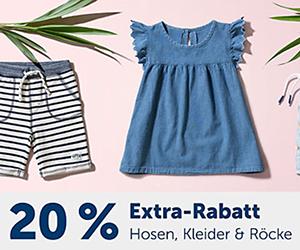 20% Rabatt auf alle Kleider, Röcke und Hosen im myToys Onlineshop