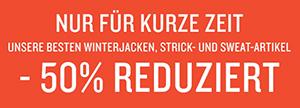 50% Rabatt auf 350 Herren Winterjacken, Strick- und Sweat-Artikel im Tom Tailor Onlineshop + 15% Extra-Rabatt