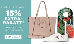 Engelhorn Weekly Deal mit 15% Rabatt auf Schuhe und Accessoires + 5,- Euro Newslettergutschein