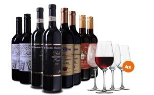 Wein Probierpaket Italien inkl. 4 Gläser für nur 69,99 Euro statt 122,99 Euro