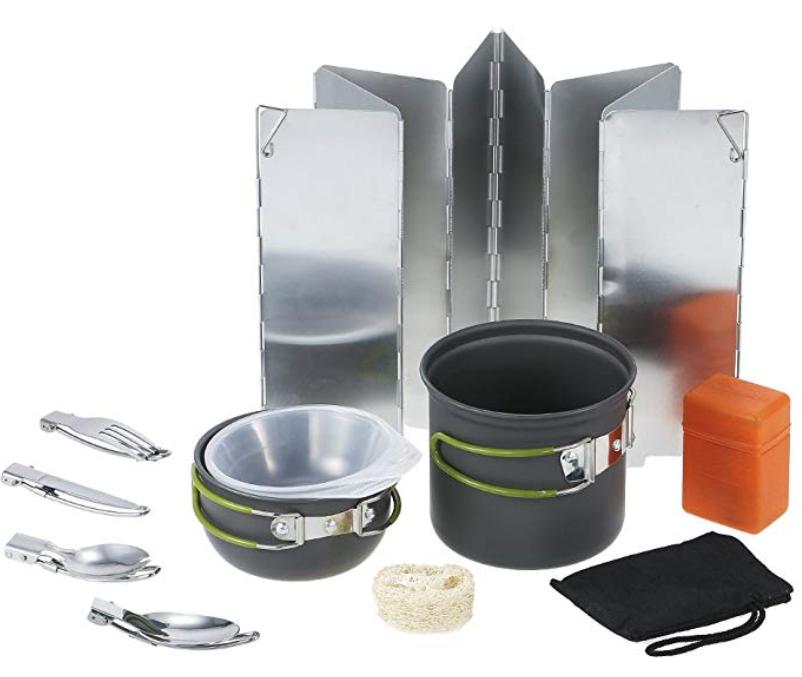 TOMSHOO Camping Kochgeschirr Set 11 in 1 für nur 12,99 Euro bei Amazon