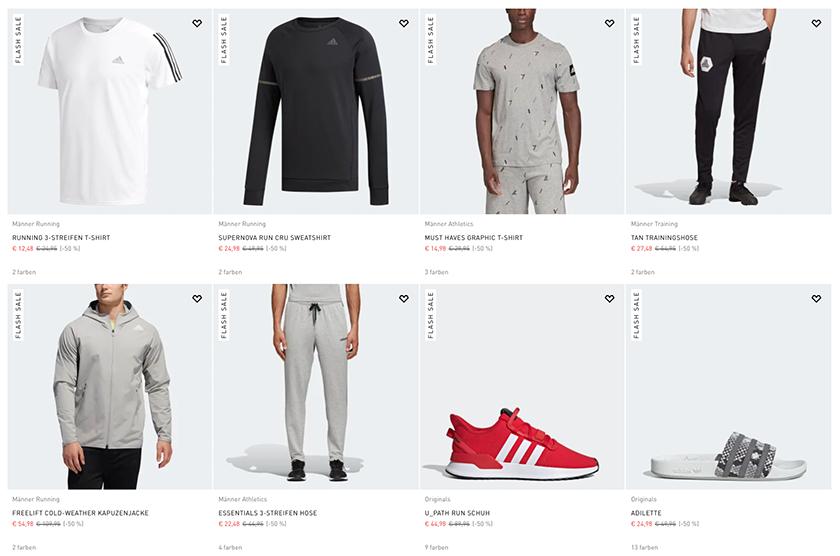 50% Rabatt auf alle Produkte im großen Adidas Outlet Sale – über 3.400 Produkte!