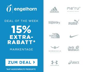 Engelhorn Sports Markentage mit 15% Rabatt auf Marken wie Adidas, Nike oder The North Face