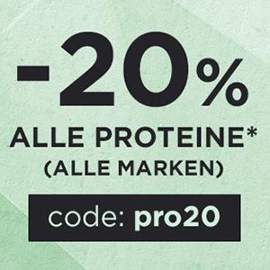 Fitmart: 20% Rabatt auf alle Whey Proteine + 20% Rabatt auf Aminos, Creatine und Booster