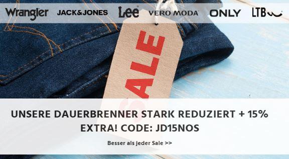 15% Rabatt auf die Beststeller bei Jeans-Direct