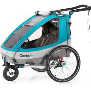Qeridoo Kinderfahrradanhänger Sportrex2 Petrol für nur 429,99 Euro inkl. Versand