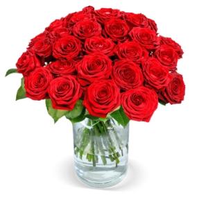 """Blumenstrauß mit 20 roten """"Red Naomi"""" Rosen für nur 19,98 Euro"""