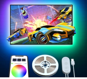 Govee RGB LED TV-Hintergrundbeleuchtung (RGB LED-Streifen) mit App Control für 8,99 Euro