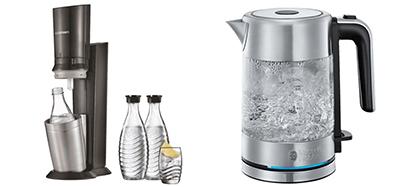 SODASTREAM Crystal 2.0 Wassersprudler + RUSSELL HOBBS Compact Home Mini Wasserkocher für nur 109,- Euro inkl. Versand