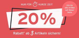 20% Rabatt beim Kauf von drei Artikeln bei Tchibo
