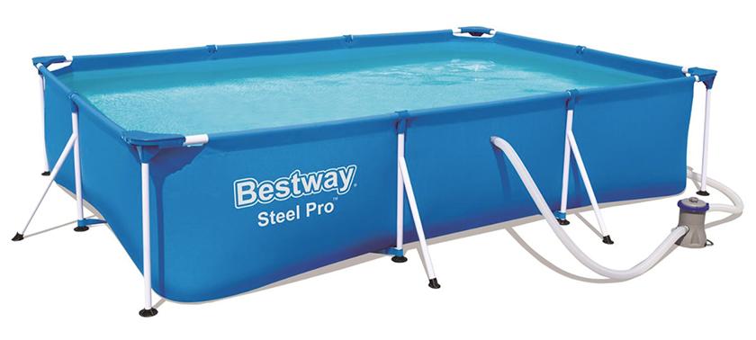 Bestway Steel Pro Frame Pool Set (300 x 201 x 66 cm) für nur 104,98 Euro inkl. Versand