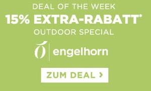 Engelhorn Weekly Deal mit 15% Extra-Rabatt auf Outdoor Mode und Ausrüstung