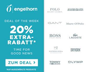 Engelhorn Mode-Markentage mit 20% Rabatt auf viele Marken wie Lacoste, Tommy Hilfiger oder GANT