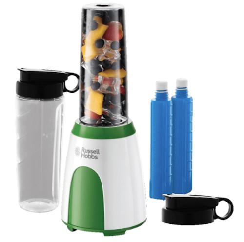 RUSSELL HOBBS Explore Mix & Go cool Smoothie Maker Weiß/Grün (300 Watt, 2x 0.6 Liter) für nur 24,- Euro inkl. Versand