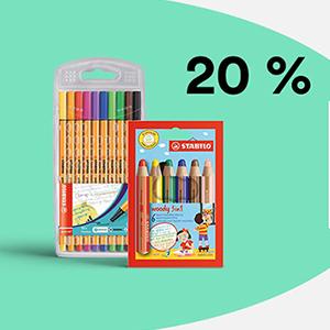 20% Rabatt auf Schreibwaren, Schulbedarf, Bastelmaterial & mehr bei Thalia