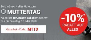 Muttertag mit 10% Rabatt auf das gesamte Sortiment bei Zoro.de